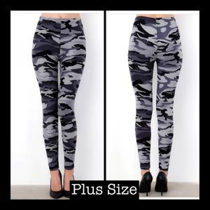 Pants - ‼️Buy Any 2 Pair For $25‼️ Plus Grey Camo Leggings
